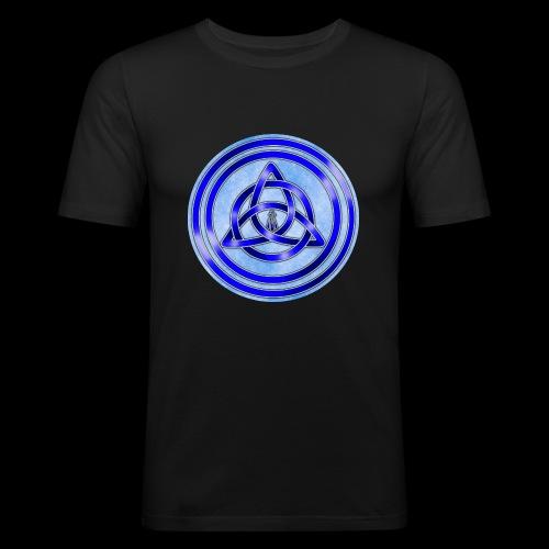 Awen Triqueta Circle - Men's Slim Fit T-Shirt