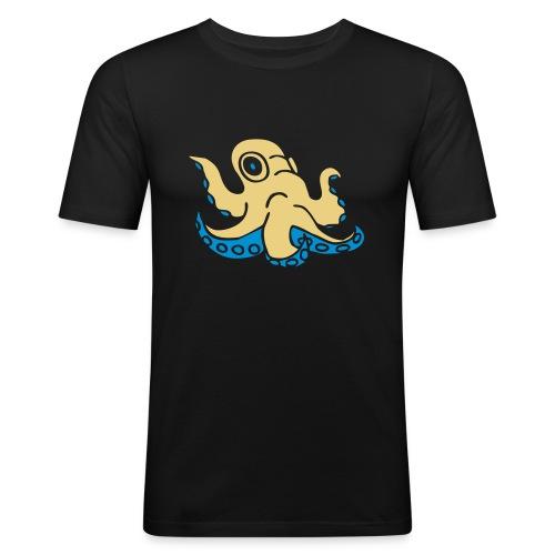 Krake octopus Tintenfisch squid ocean water wasser - Männer Slim Fit T-Shirt