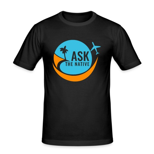 Ask the Native Original Logo - Mannen slim fit T-shirt