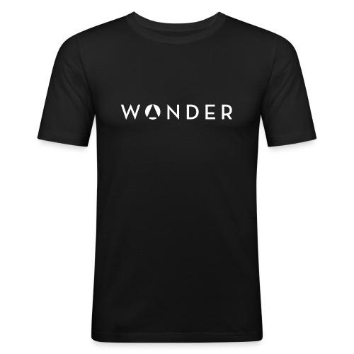 w@nder weiss - Männer Slim Fit T-Shirt