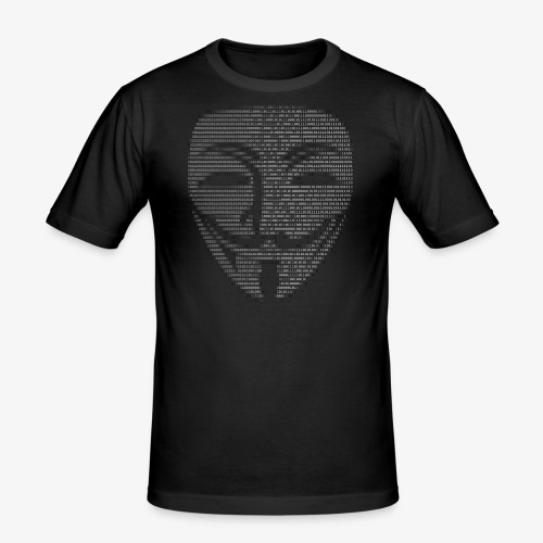 Guy Fawkes Mask Binary - Men's Slim Fit T-Shirt