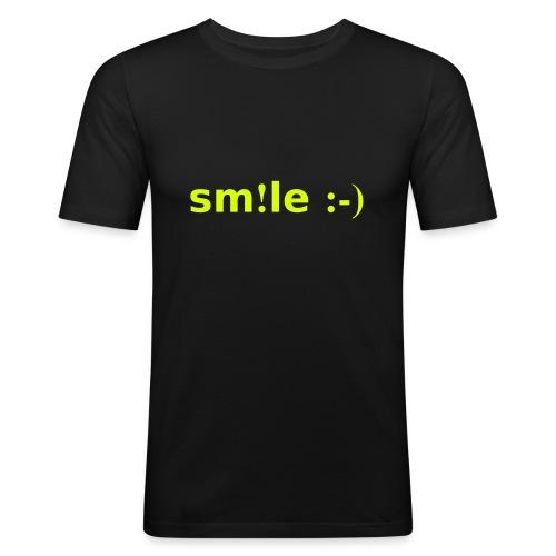 smile - sorridi - Maglietta aderente da uomo
