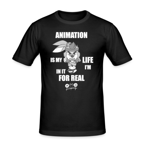 AMB Animation - In It For REAL - Men's Slim Fit T-Shirt