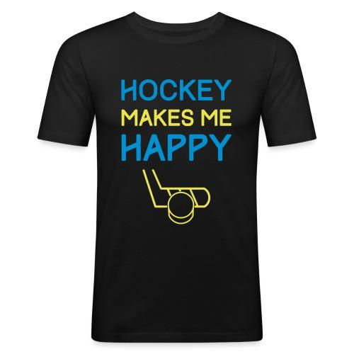 Hockey Makes Me Happy - Men's Slim Fit T-Shirt
