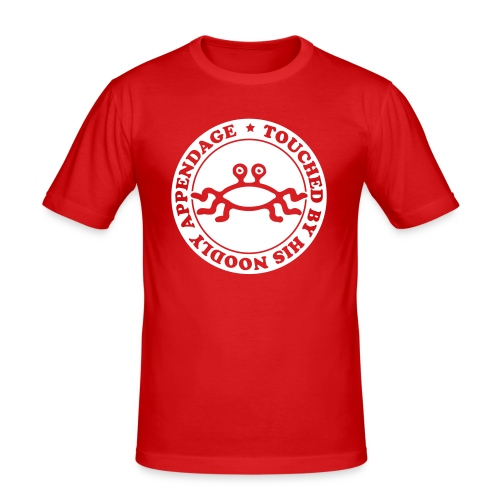 Touched by His Noodly Appendage - Men's Slim Fit T-Shirt