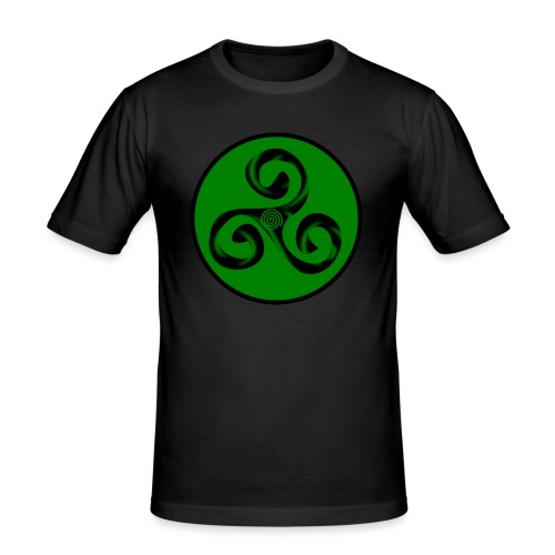 Triskel and Spiral - Camiseta ajustada hombre