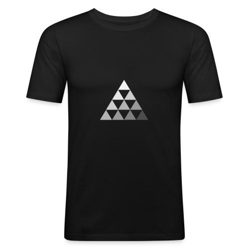 TRIANGLE FADE 2 - Maglietta aderente da uomo