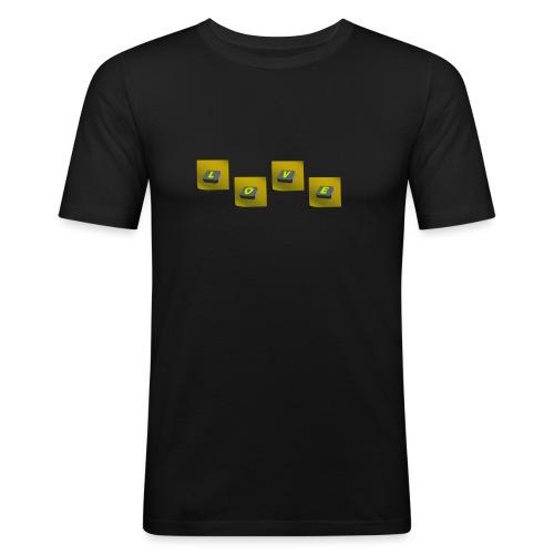 love - Mannen slim fit T-shirt
