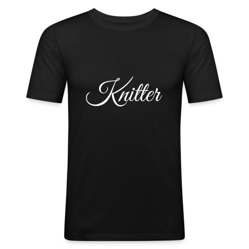 Knitter, white - Men's Slim Fit T-Shirt