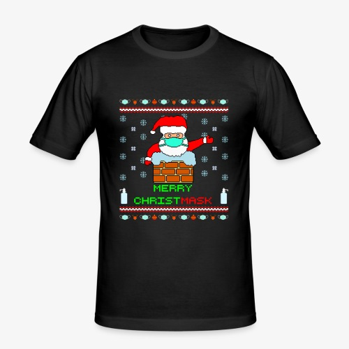 Merry Christmask Ugly Xmas - Männer Slim Fit T-Shirt