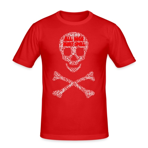 All Men Must Spell - Herre Slim Fit T-Shirt