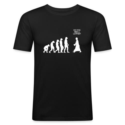 evolution lawyer - T-shirt près du corps Homme