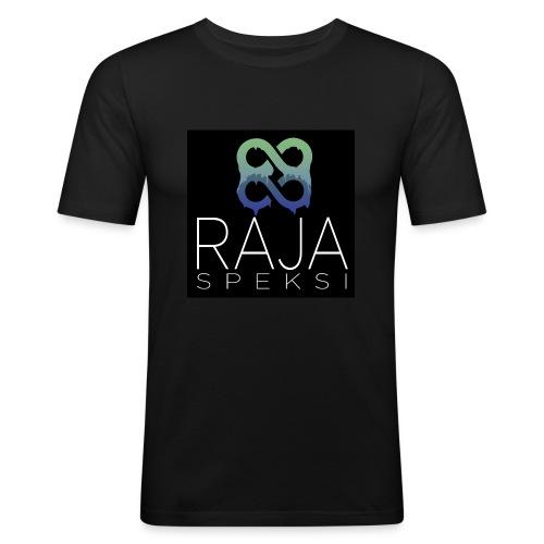 RajaSpeksin logo - Miesten tyköistuva t-paita