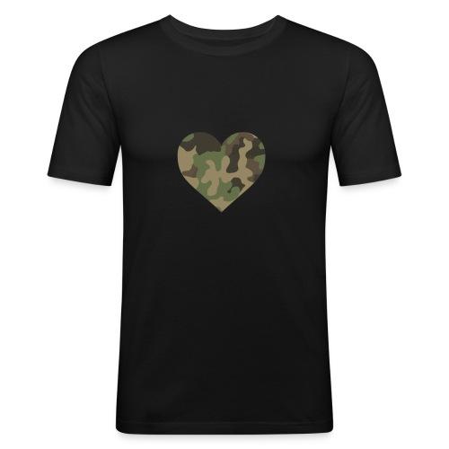 CamoHearth - Obcisła koszulka męska