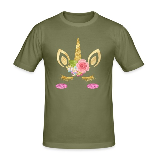 unicorn face - Männer Slim Fit T-Shirt