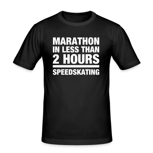 marathonlessfinal2 - Männer Slim Fit T-Shirt
