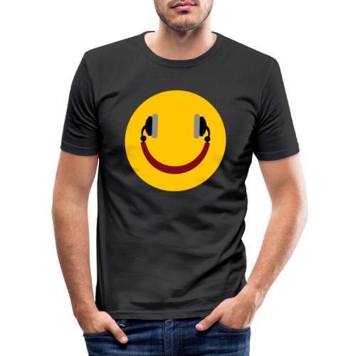 Smiling headphone - Herre Slim Fit T-Shirt