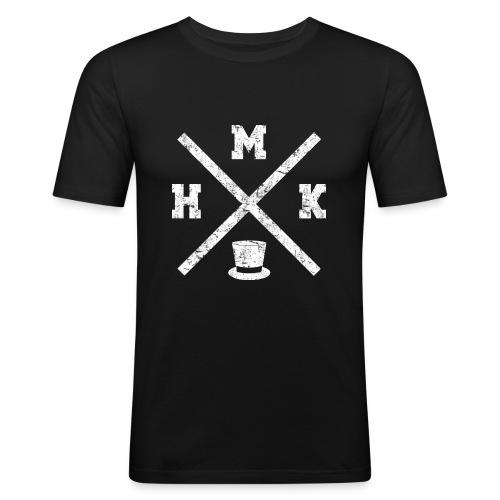 hmkvalkoinen - Miesten tyköistuva t-paita