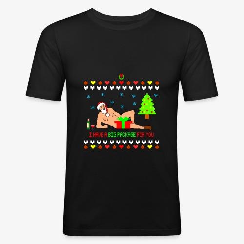 Sexy Romantic Santa Ugly Xmas - Männer Slim Fit T-Shirt