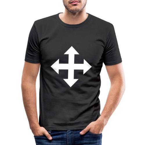 Pfeile oben unten links rechts weiss - Männer Slim Fit T-Shirt