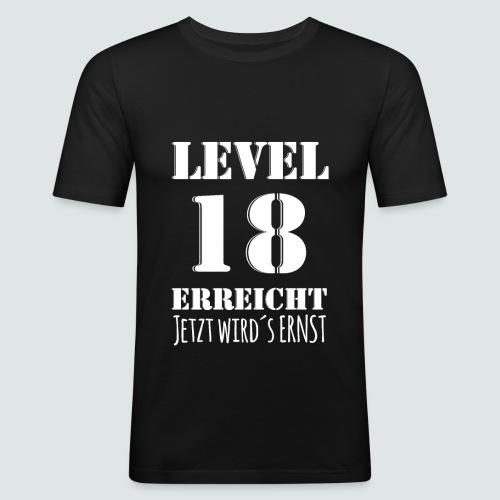 18er Geburtstag - LEVEL 18 ERREICHT - MOTIV - Männer Slim Fit T-Shirt