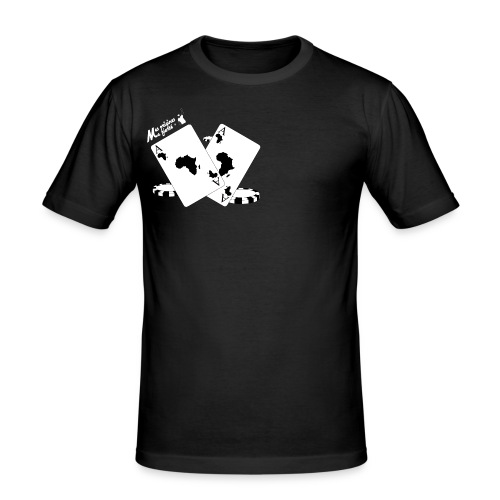 african player 2 blanc - T-shirt près du corps Homme
