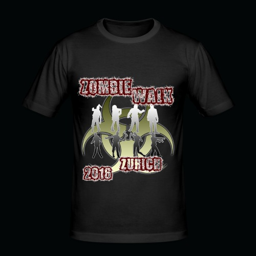 shirt zombie walk1 - Männer Slim Fit T-Shirt
