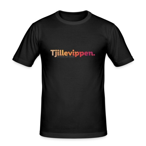 En podd om teknik - Second Edition Black - Slim Fit T-shirt herr