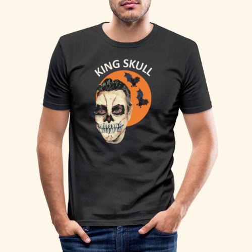 Totenkopf Nahtoderfahrung Mystik - Männer Slim Fit T-Shirt