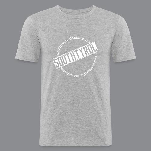 SouthTyrol Kreis weiß - Männer Slim Fit T-Shirt