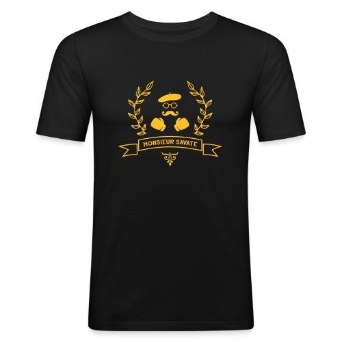 Monsieur Savate logo1 - T-shirt près du corps Homme