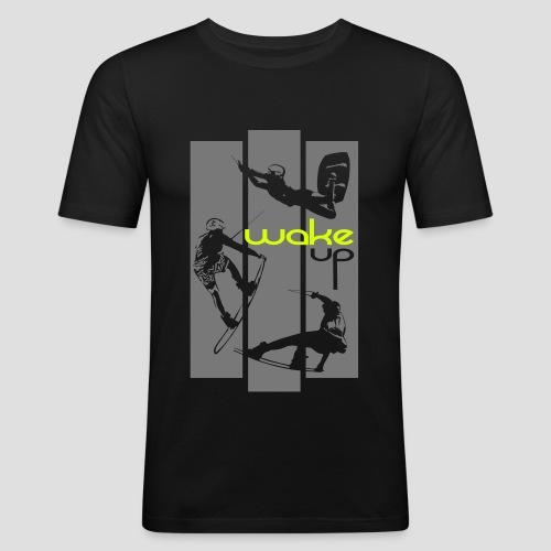 wake up everyday design - Männer Slim Fit T-Shirt