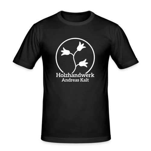 White Holzhandwerk logo - Men's Slim Fit T-Shirt