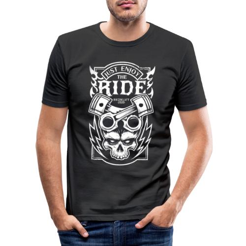 Bikerkluft - Just Enjoy The Ride - Biker Fashion - Männer Slim Fit T-Shirt