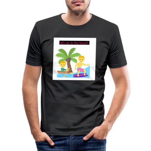 beach - Slim Fit T-shirt herr