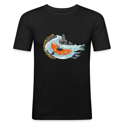 kayakillust2yellow - Men's Slim Fit T-Shirt