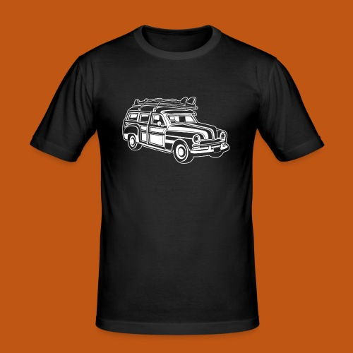 Chevy Cadilac Woodie / Oldtimer Kombi 01_weiß - Männer Slim Fit T-Shirt