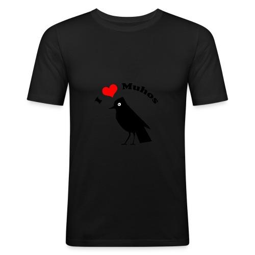 naakkapinssi - Miesten tyköistuva t-paita