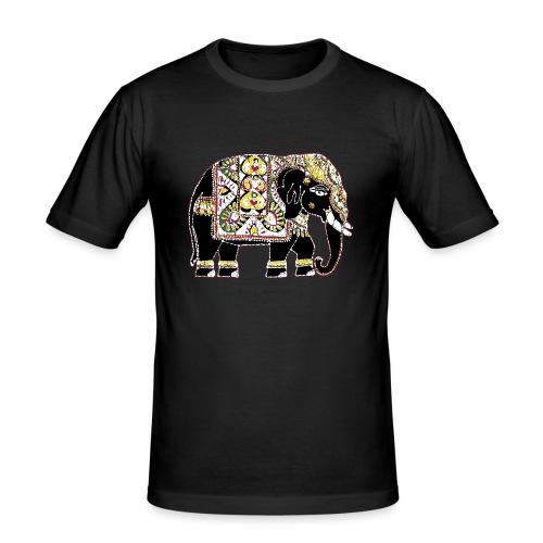 Indian elephant for luck - Men's Slim Fit T-Shirt