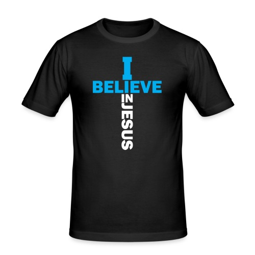 I believe in Jesus - Männer Slim Fit T-Shirt