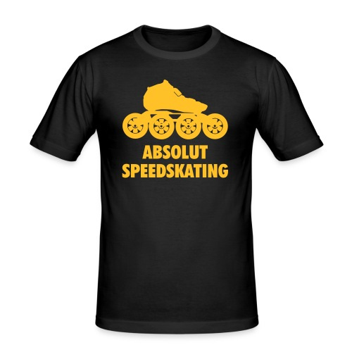 absolutspeedskatingskatefinal1c - Männer Slim Fit T-Shirt