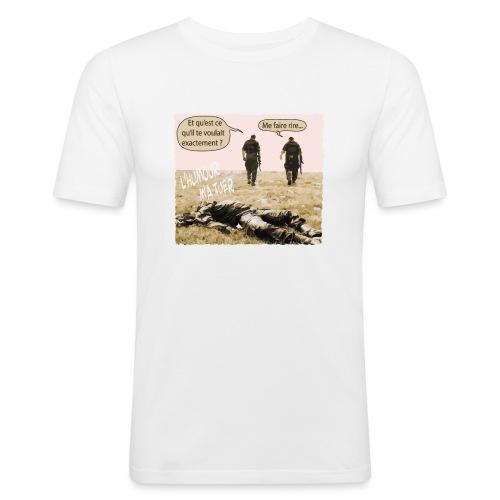 L'humour m'a tuer - T-shirt près du corps Homme