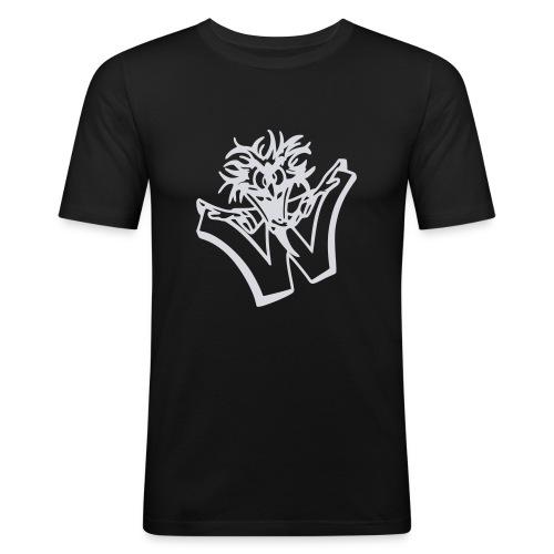 w wahnsinn - Mannen slim fit T-shirt