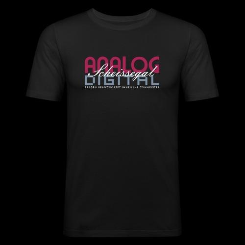 ANALOG, DIGITAL, SCHEISSEGAL. - Männer Slim Fit T-Shirt