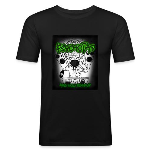 PsychoDad - AreYouReady - Miesten tyköistuva t-paita