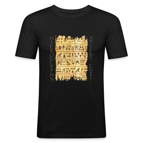 ausgerissener Papyri mit Hieroglyphen - Männer Slim Fit T-Shirt