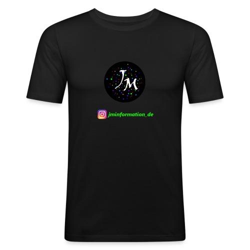 jminformation-Logo - Männer Slim Fit T-Shirt