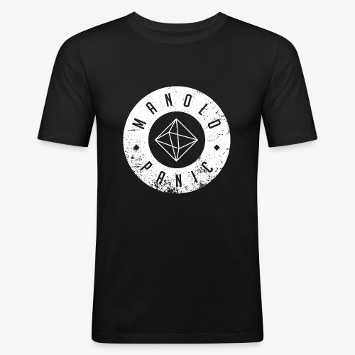 Manolo Panic Logo, breit - Männer Slim Fit T-Shirt