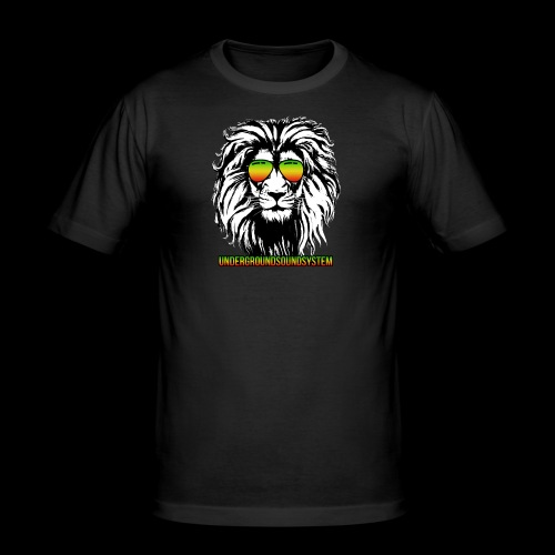 RASTA REGGAE LION - Männer Slim Fit T-Shirt