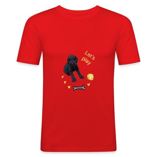 Giant Schnauzer puppy - Men's Slim Fit T-Shirt